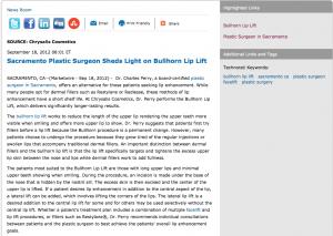 bullhorn lip lift, plastic surgery, sacramento ca, plastic surgeon, facelift