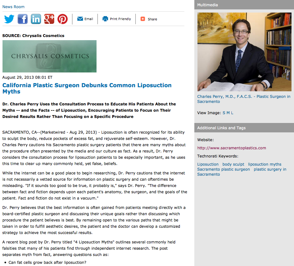 California Plastic Surgeon Debunks Common Liposuction Myths