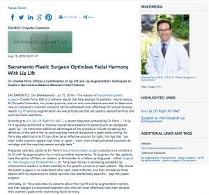 Sacramento plastic surgeon, lip lift, Sacramento plastic surgery, Dr. Perry, Surgical vs. Non-Surgical Lip Enhancement