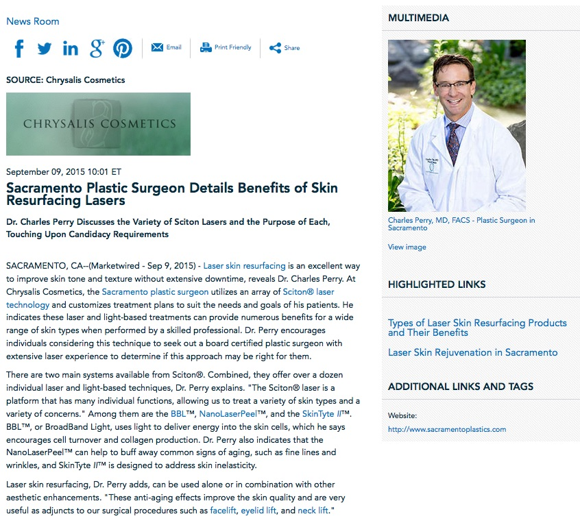 laser skin resurfacing,anti aging,bbl,micro laser peel,microdermabrasion,dr charles perry,sacramento