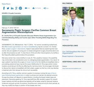 breast,augmentation,surgery,implants,breastfeeding,sacramento plastic surgeon,dr charles perry